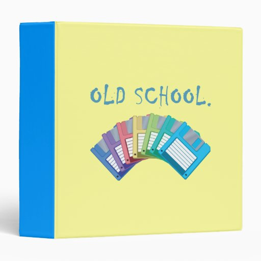 Old School Floppy Disks 3 Ring Binder