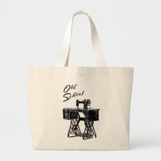 Old School Sewing Machine Tote Bag
