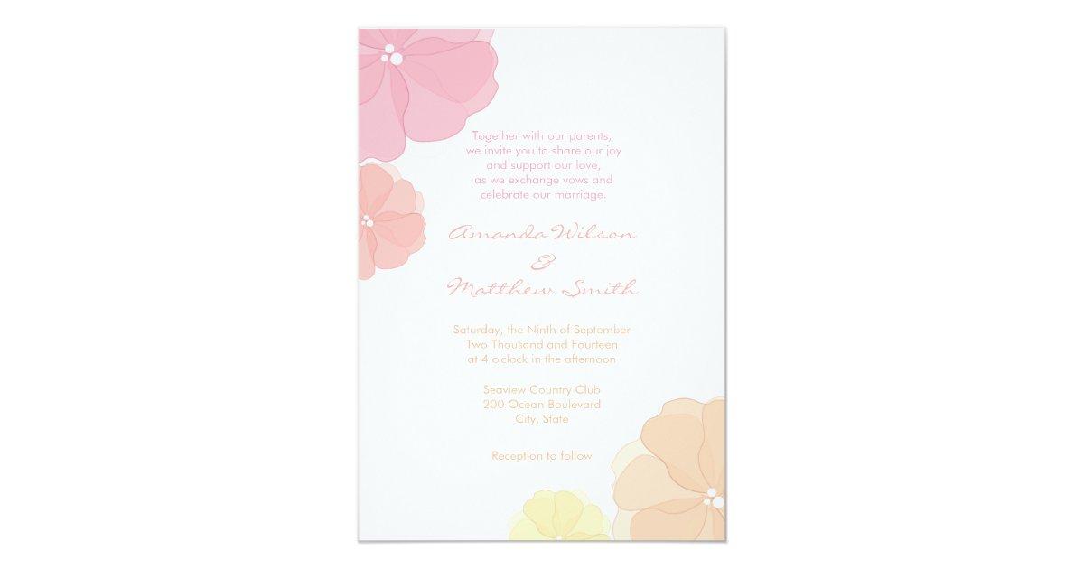 Ombre Wedding Invitation: Ombre Pastel Floral Wedding Invitations