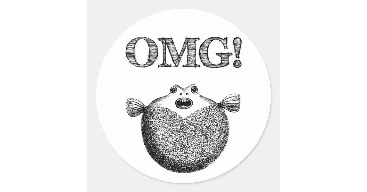 omg cute blowfish stickers illustration funny