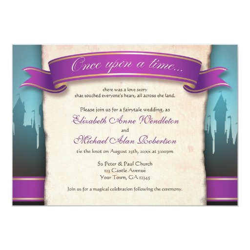 Fairytale Invitations Wedding: Once Upon A Time Fairytale Wedding Invitations