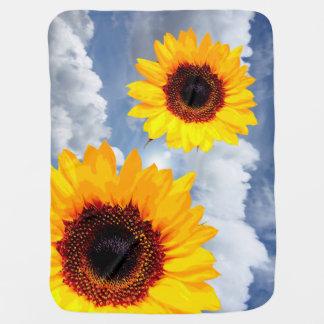 Sunflower Baby Blankets Zazzle