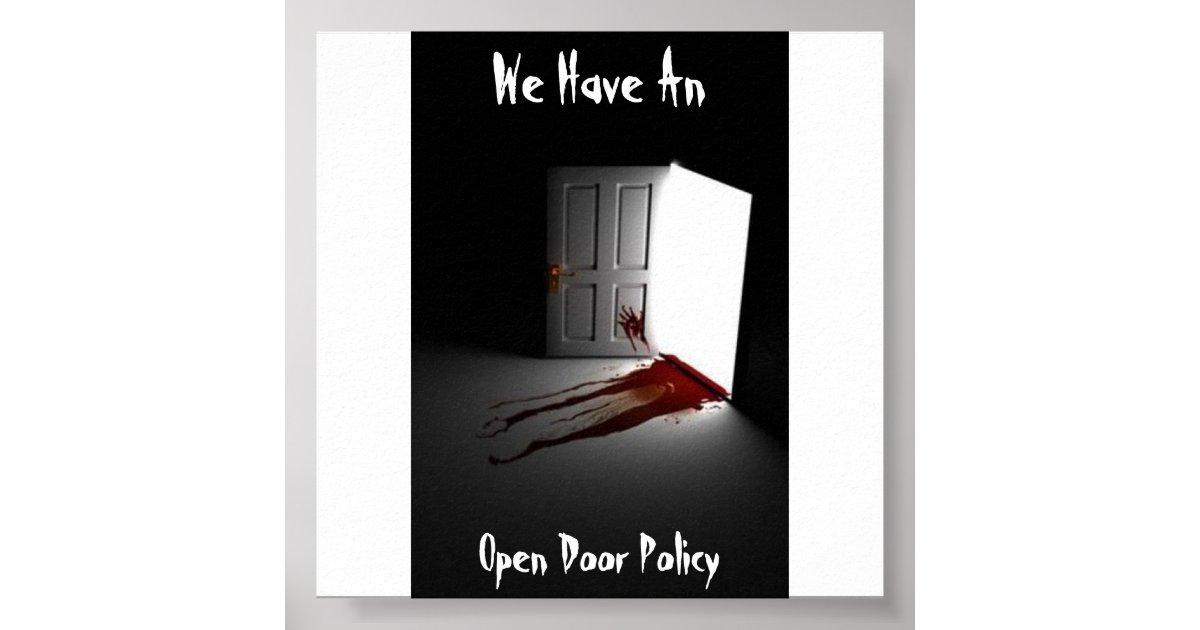 Open Door Policy Poster   Zazzle