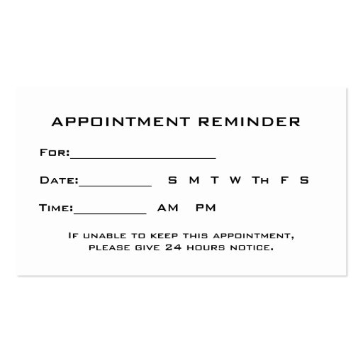 ophthalmology exam template - ophthalmologist eye exam appointment reminder business cards