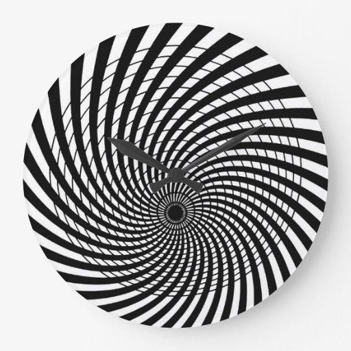 Optical Illusion Retro Art Clock Zazzle