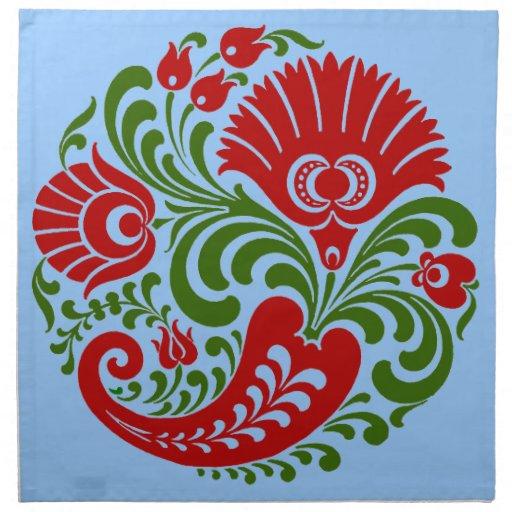 OPUS Hungarian Paprika Flower Embroidery Printed NapkinPaprika Flower
