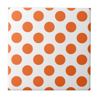 White And Orange Ceramic Tiles Zazzle