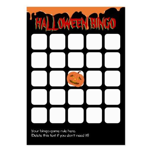 Make Your Own Bingo Card: Orange Drips Pumpkin 5x5 Halloween Bingo Card