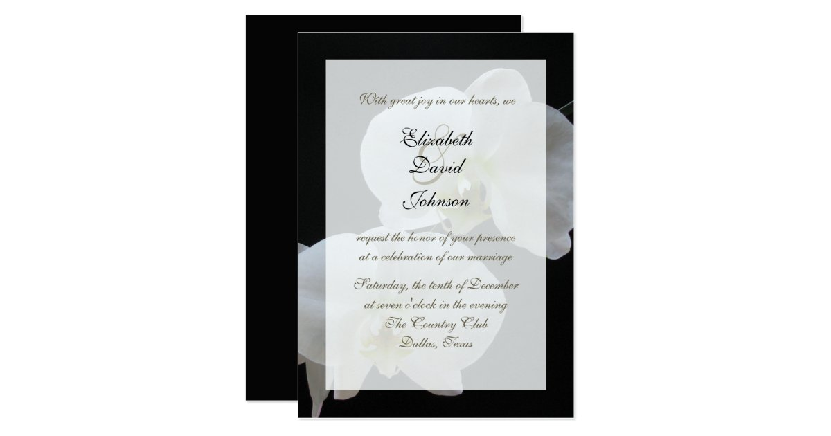 Reception Only Wedding Invitations: Orchid Marriage Reception Only Wedding Invitation