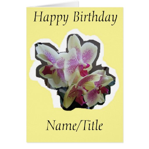 Orchid Photography Birthday Card Wife Friend Nana