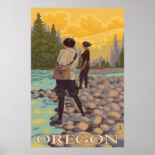 Oregon Fly Fishing Vintage Travel Poster Zazzle