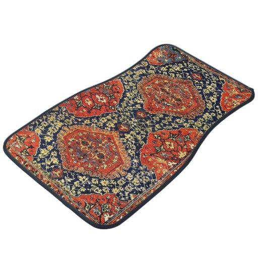 Oriental Rug In Blue&orange Car Mat