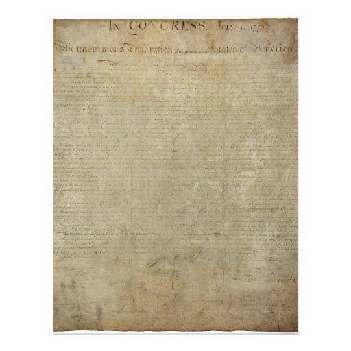 Original declaration of independence letterhead zazzle for Revolutionary war newspaper template