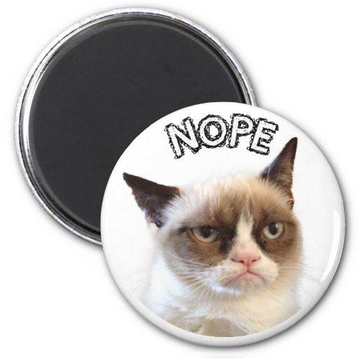 Original grumpy cat round magnet nope r2d04766e2760447e8112bf377b633800 x7js9 8byvr 512