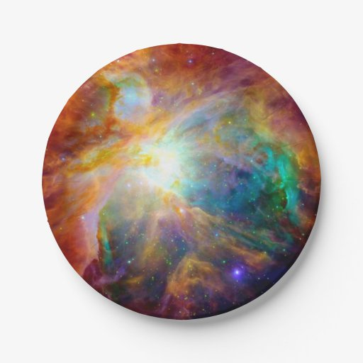 Orion Nebula Colorful Galaxy Paper Plates | Zazzle
