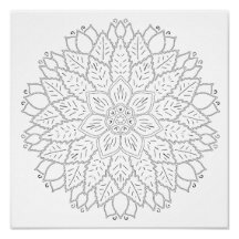 OrnaMENTALs #0012 Centerpiece Color Your Own Poster