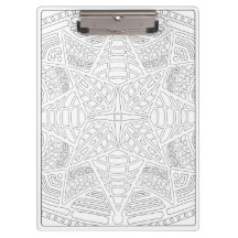 OrnaMENTALs #0019 Starburst Bling Color Your Own Clipboards