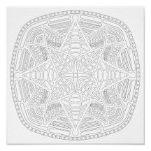 OrnaMENTALs #0019 Starburst Bling Color Your Own Poster