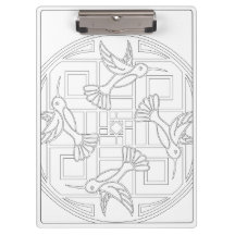 OrnaMENTALs #0021 Hummingbird Color Your Own Clipboards