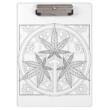 OrnaMENTALs #0024 Peace Love Toke Color Your Own Clipboards