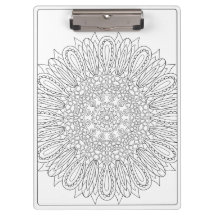 OrnaMENTALs #0025 Sunflower Delight Color Your Own Clipboards