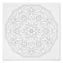 OrnaMENTALs Blooms and Bows Coloring Page #0007 Poster