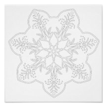 OrnaMENTALs Bursting Forth Coloring Page #0004 Poster
