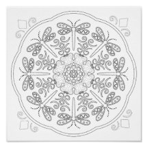 OrnaMENTALs Dragonfly Butterfly Coloring Page 0006 Poster