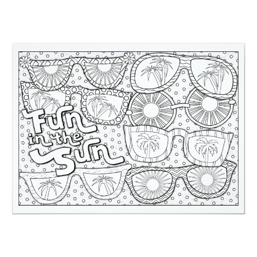 OrnaMENTALs Fun in the Sun Color Your Own Card