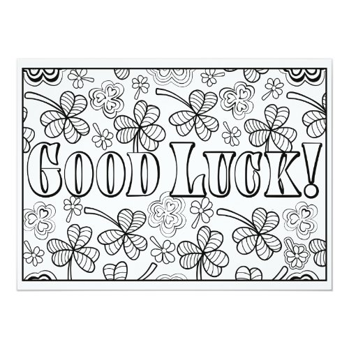 OrnaMENTALs Good Luck Shamrocks Color Your Own Card