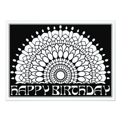 OrnaMENTALs Happy Birthday Mandala Color Your Own Card