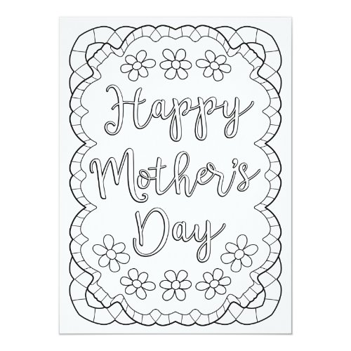 OrnaMENTALs Happy Mother's Day Color Your Own Card