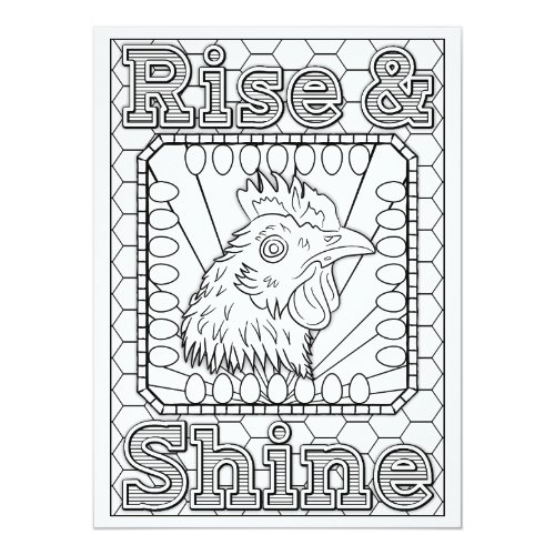 OrnaMENTALs Rise & Shine Chicken Color Your Own Card