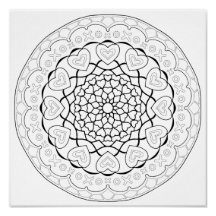 OrnaMENTALs So Much Love Coloring Page #0008 Poster
