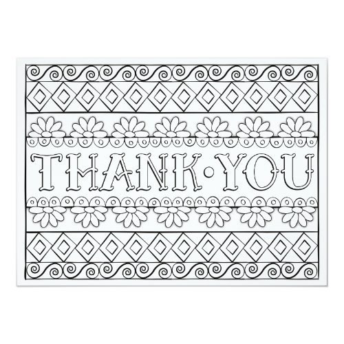 OrnaMENTALs Thank You Color Your Own Card