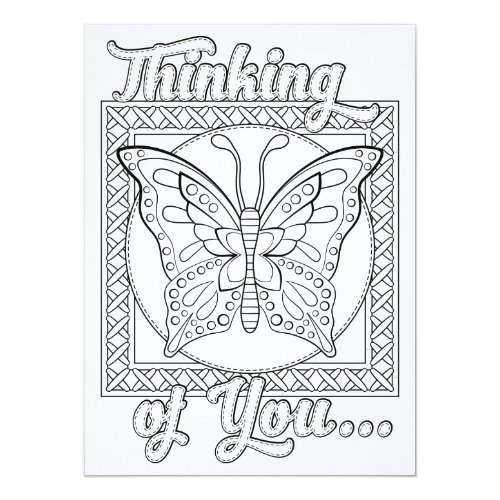 OrnaMENTALs Thinking of You Color Your Own Card
