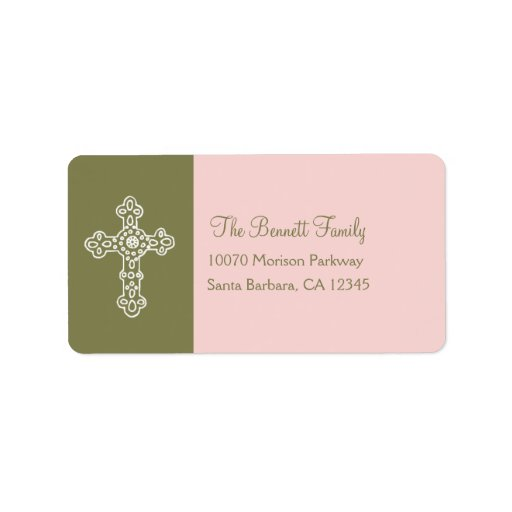 Ornate Cross Address Label Custom Address Labels