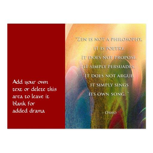 Osho Zen Quote Postcard