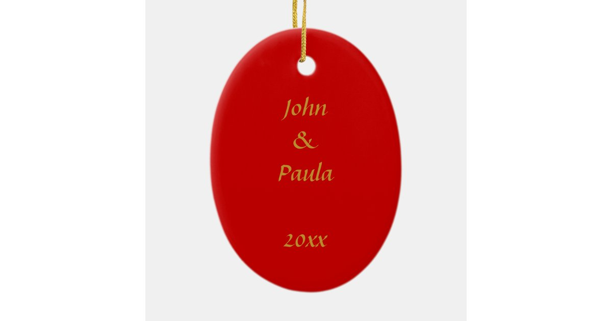 Our First Christmas Photo Frame Ceramic Ornament Zazzle
