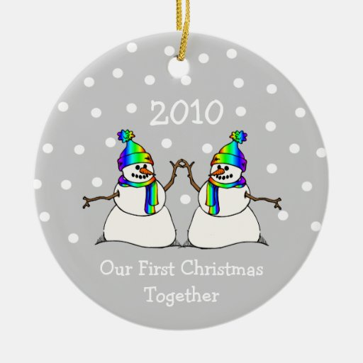 Our First Christmas Together 2010 (GLBT Snowmen) Ceramic ...