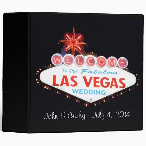 Our Las Vegas Wedding Photo Album Vinyl Binders