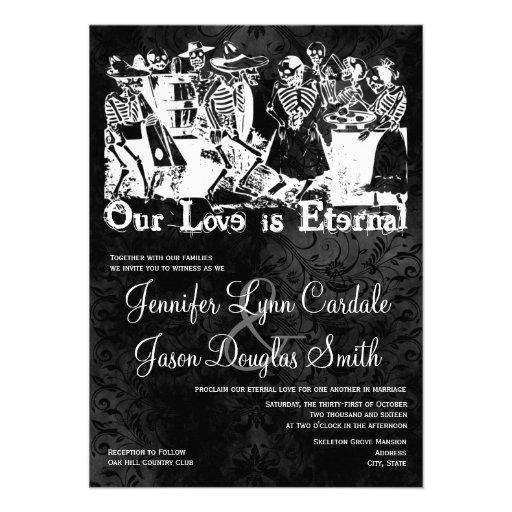 "Our Love is Eternal Skeleton Wedding Invitations 4.5"" X 6 ..."
