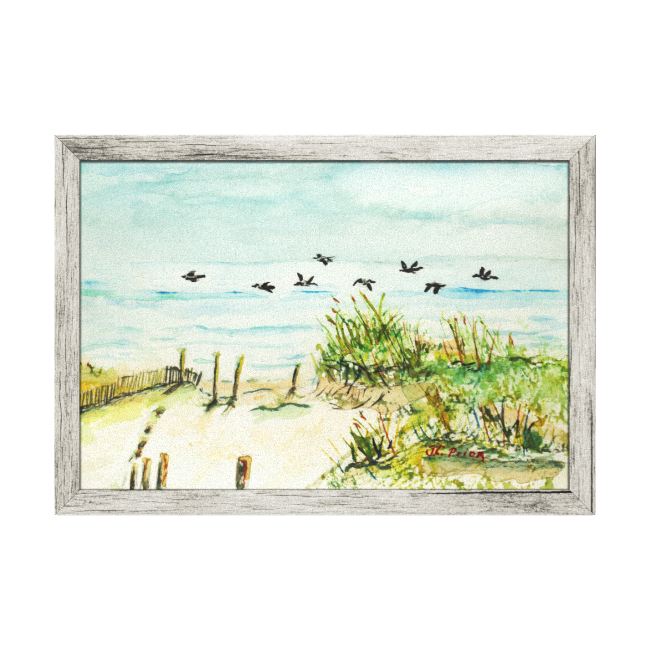 Outer Banks Sand Dunes and Seagulls Wrapped Canvas Canvas Prints