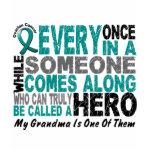Ovarian Cancer Hero Comes Along grandma t-shirt