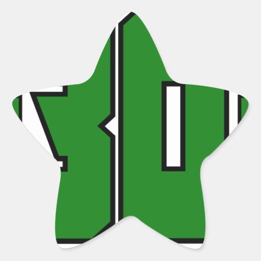 Over 30 Clan Logo (Xbox Green) Star Sticker   Zazzle