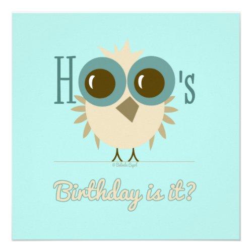 Owl Themed Birthday Cards