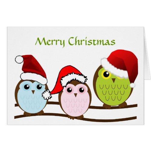 Unique Owl Christmas Decor | Owl Christmas Gift Wrap & Cards | Lou's Designs ES57