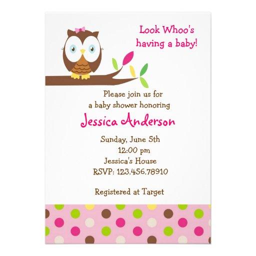 Owl Invitations 5200 Owl Announcements Invites