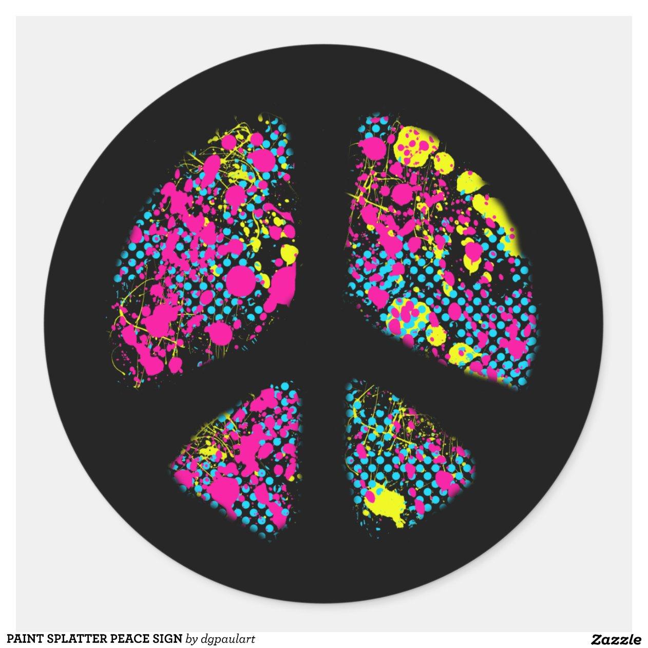 Pin Peace Sign Invites Printable Cake on Pinterest