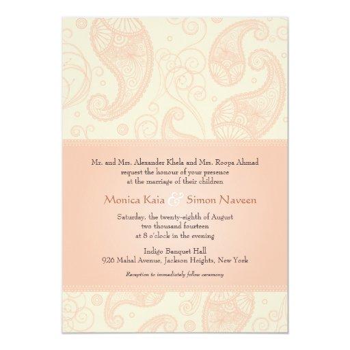 Paisley Dreams Wedding Invitation